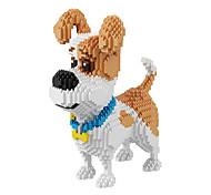 Brinquedos para presente Blocos de Construir Modelo e Blocos de Construção Cachorros Personagem de Filme Plástico 14 Anos ou Mais Ivory