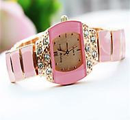 Damen Modeuhr Armband-Uhr Quartz Legierung Band Bettelarmband Bequem Weiß Orange Rosa Orange Rot Rosa