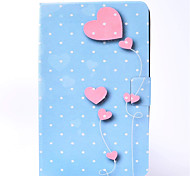 For Samsung Galaxy Tab T580 T350 PU Leather Material Love Balloon Pattern Painted Flat Protective Cover T550 T560 T280