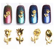 10pcs Premium Alloy Rose Nail Art Decoration