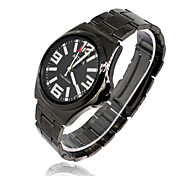 Men's Fashion Watch Quartz Rubber Band Black Brand