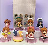 Anime Action Figures Inspired by Cardcaptor Sakura Sakura Kinomodo PVC 7 CM Model Toys Doll Toy 1set