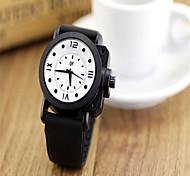 Fashion Watch Quartz Plastic Band Charm Black