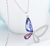 Pendant Necklaces Crystal Crystal Animal Shape Wings / Feather Basic Dangling Style Fashion Silver Jewelry Daily Casual 1pc