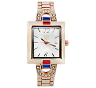 Women's Fashion Watch Simulated Diamond Watch Quartz Rose Gold Plated Alloy Band Rose Gold