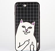 Für Muster Hülle Rückseitenabdeckung Hülle Katze Weich Silikon für AppleiPhone 7 plus iPhone 7 iPhone 6s Plus iPhone 6 Plus iPhone 6s