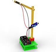 Juguetes para los muchachos Juguetes de aprendizaje  Iluminación LED Kit de Bricolaje Elevadora Plástico Verde
