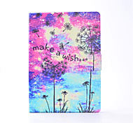 For iPhone iPad Pro 9.7'' iPad 2 / 3 / 4 PU Leather Material Dandelion Pattern Painted Flat Protective Cover iPad Air 2 Air