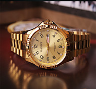 Fashion Watch Quartz Alloy Band Charm Gold