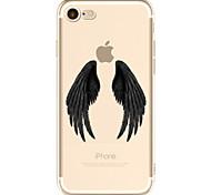 Para Transparente Estampada Capinha Capa Traseira Capinha Pena Macia TPU para AppleiPhone 7 Plus iPhone 7 iPhone 6s Plus/6 Plus iPhone