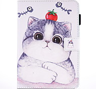 For IPad Air 2  IPad Air Case Cover Cat Pattern PU Skin Material Flat Protective Shell