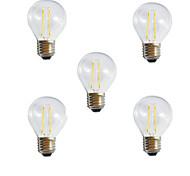 5pcs g45 2w e27 250lm Ampoule à incandescence à LED chromée / incroyable à 360 degrés LED (ac220-240v)
