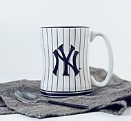 Sports Baseball Ruby Club Emblem Souvenir Cups , 380 ml University Union Fans Ceramic Mug