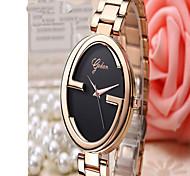 Masculino Relógio de Moda Quartzo Rosa Folheado a Ouro Lega Banda Casual Preta Ouro Rose Preto Ouro Rose