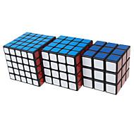 Shengshou® Glatte Geschwindigkeits-Würfel 3*3*3 4*4*4 5*5*5 Geschwindigkeit Profi Level Magische Würfel Schwarz Weiß Glatte Aufkleber Feng