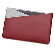 для Apple Macbook 12 дюймов воздуха 11,6 рукава ноутбук сумка кожа PU с простой чувствовал стиль отдыха ноутбук сумка сплошной цвет