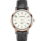 Sport Watch Fashion Watch Water Resistant / Water Proof Quartz Leather Band Cool Casual Black Brown
