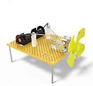 Brinquedos Para meninos Brinquedos de Descoberta Kit Faça Você Mesmo Brinquedo Educativo Moinho de Vento ABS Laranja