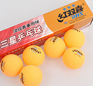 1 Piece 3 Stars Ping Pang/Table Tennis Ball Yellow White Indoor Performance Practise Leisure Sports
