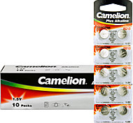 Camelion AG10 Coin Button Cell Alkaline Battery 1.5V 100 Pack