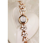 Bracelet Watch Quartz Alloy Rose Gold Plated Band Gold