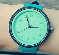 Fashion Watch Quartz Leather Band Casual Blue