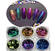 1pcs Glitter Nail Art DIY Decoration Colorful Chameleon Irregular Shape Accessories DIY Nail Art Beauty Design BS01-06