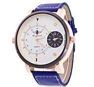 Муж. Модные часы Кварцевый Кожа Группа Повседневная Черный Синий Коричневый