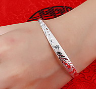 Bracelet Bangles Sterling Silver Others Natural Gift Jewelry Gift Silver,1pc