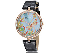 Fashion Watch Simulated Diamond Watch Quartz Leather Band Casual Blue Red Pink Black Red Blushing Pink