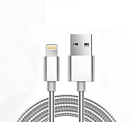 USB 2.0 Trenzado Normal Cable Para Apple iPhone iPad 98 cm Metal Aluminio