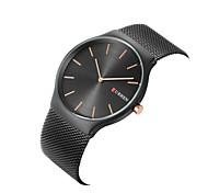 CURREN Муж. Нарядные часы Модные часы Наручные часы Кварцевый Крупный циферблат Нержавеющая сталь Группа С подвесками Повседневная