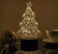 Wireless Smart 3D Desk Lamp Bluetooth 4.0 Speaker CHRISTMAS TREE STYLE  TRANSPARENT