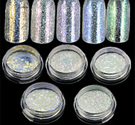 1pcs Nail Art DIY Glitter Chameleon Power Decoration Nail Beauty Accessories DIY Nail Art Design BS12-16