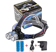 U'King® ZQ-X838B#1-UK 2*CREE XML-T6 4000LM LED 3Modes Headlamp Bicycle Lamp Kit Emergency Charging for your Mobile Devices