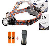 U'King® ZQ-X830B#3-EU CREE XML-T6 LED 2000LM Zoomable 180 Rotate 3Modes Headlamp Bike Light Kits with Rear Safety LED