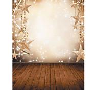 1,5 x 2,1 m in vinile sfondo panno photography Natale fantasia fiocco di neve stelle