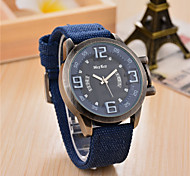 Fashion Watch Quartz Fabric Band Charm Black Blue Brown Green