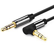 UGREEN® Ultra-Slim 3.5mm Jack Audio Cable Male to Male Cable Audio 90 Degree Right Angle AUX Cable for Car Headphone MP3