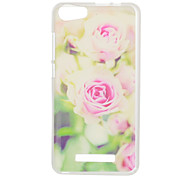 For Wiko Jerry Lenny2 Lenny3 Sunset2 Case Cover Pink Flower Pattern High Penetration Painted TPU Material Phone Case