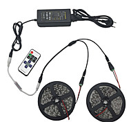 Light Set 10M 5050 600 Light RGB IP44 11 key Infrared Remote Control 12V 6A Power Connector