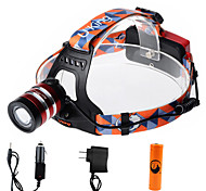 U'king ZQ-G70000CRed CREE T6 LED 2000LM 3Mode Adjustable Focus Headlamp Bike Light Kit for Camping/Hiking/Caving Everyday Use Cycling