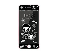 For Apple iPhone 7 4.7 Tempered Glass Screen Protector with Soft Edge Full Screen Coverage Front Screen Protector Cartoon Skull Pattern