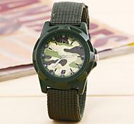 Fashion Watch Quartz Fabric Band Blue Brown Green