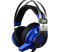 Xiberia V2 Gaming Headphones Over Ear LED Light Vibration Stereo Headset Pc Gamer Computer Super Bass Glow Earphones With Mic