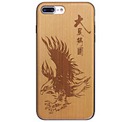 Realize Ambition Chinese idioms Ultra-thin Protective iPhone Wood Case for iPhone 7 7plus iphone 6s 6Plus SE 5s 5
