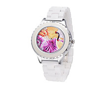 Fashion Watch Quartz Alloy Band Casual White Gold Gold White