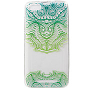 For WIKO LENNY3 Case Cover Green Flower Painted Pattern TPU Material Phone Case