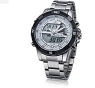 Fashion Watch Digital Watch Quartz Digital Alloy Band Casual White Brown Silver
