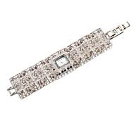 Bracele Relógio Japanês Banda Elegantes Prata